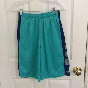 Blue nike elite basketball shorts